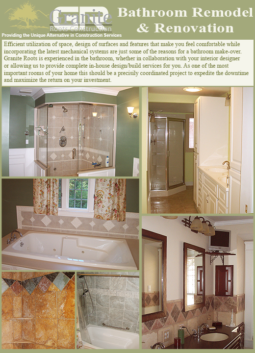 NH Bathrooms Bathroom Remodel Remodeling Builder Builders Granite Roots Construction
